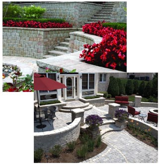 Unilock decorative retaining walls and modular concrete wall systems